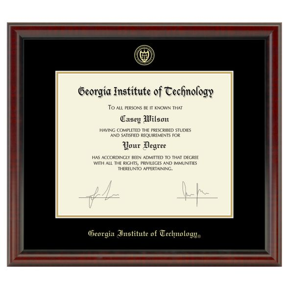 Georgia Tech Diploma Frame, the Fidelitas