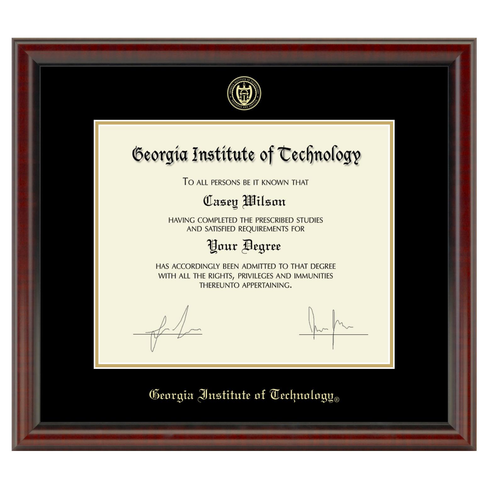 Georgia Tech Diploma Frame, the Fidelitas