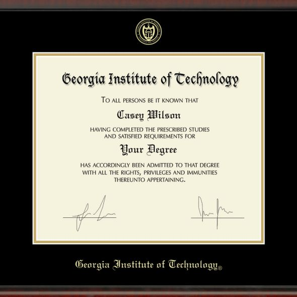 Georgia Tech Diploma Frame, the Fidelitas - Image 2