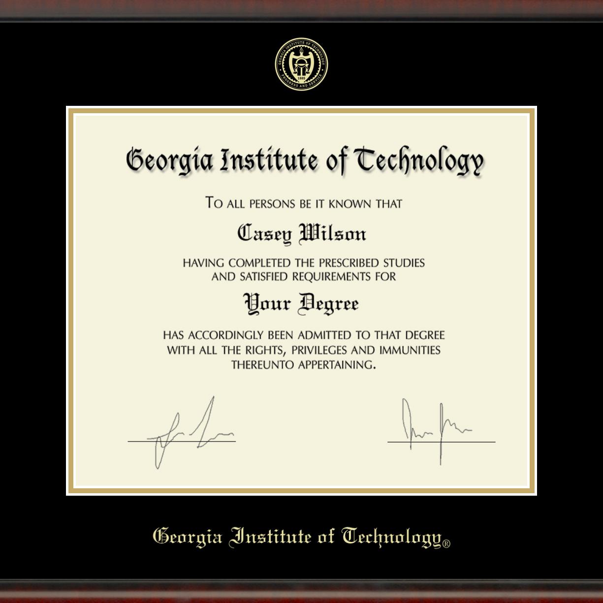 Georgia Tech Diploma Frame, the Fidelitas - Image 2
