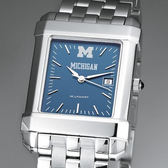 Michigan Men's Blue Quad Watch with Bracelet