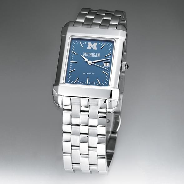 Michigan Men's Blue Quad Watch with Bracelet - Image 2