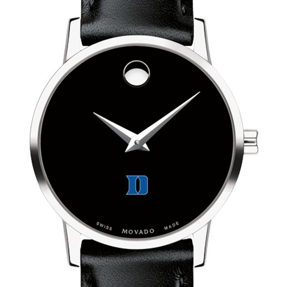 Duke University Women's Movado Museum with Leather Strap