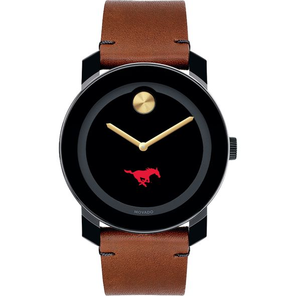 Southern Methodist University Men's Movado BOLD with Brown Leather Strap - Image 2