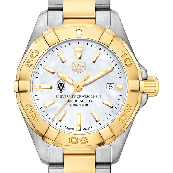 University of Wisconsin TAG Heuer Two-Tone Aquaracer for Women
