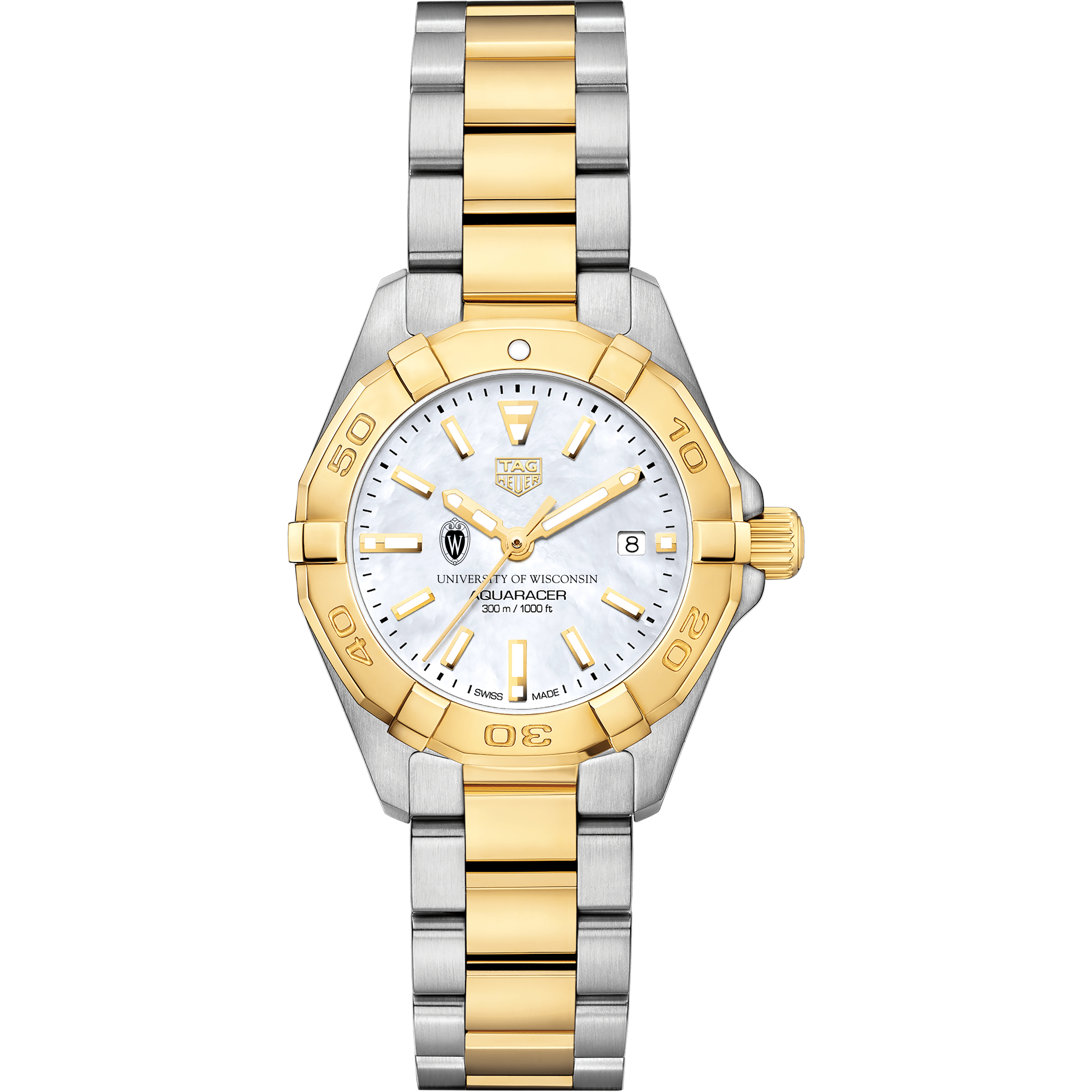University of Wisconsin TAG Heuer Two-Tone Aquaracer for Women - Image 2