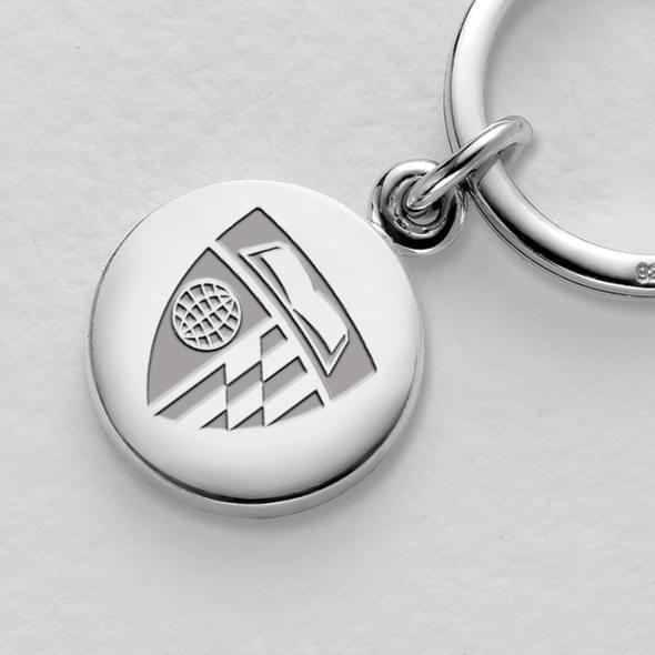 Johns Hopkins Sterling Silver Insignia Key Ring - Image 2