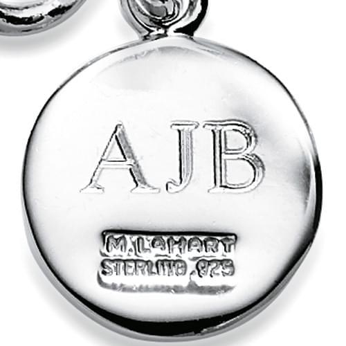 Johns Hopkins Sterling Silver Insignia Key Ring - Image 3