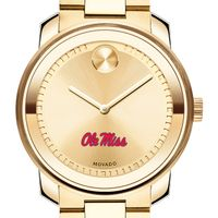 University of Mississippi Men's Movado Gold Bold