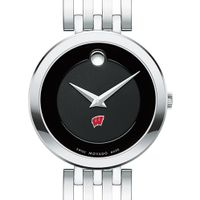 University of Wisconsin Women's Movado Esparanza Stainless Steel Museum with Bracelet