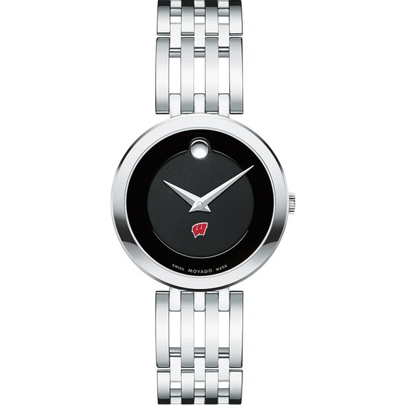 University of Wisconsin Women's Movado Esparanza Stainless Steel Museum with Bracelet - Image 2