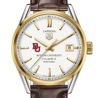 Boston University Men's TAG Heuer Two-Tone Carrera with Strap