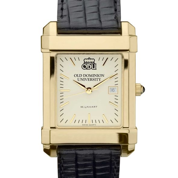 Old Dominion Men's Gold Quad with Leather Strap