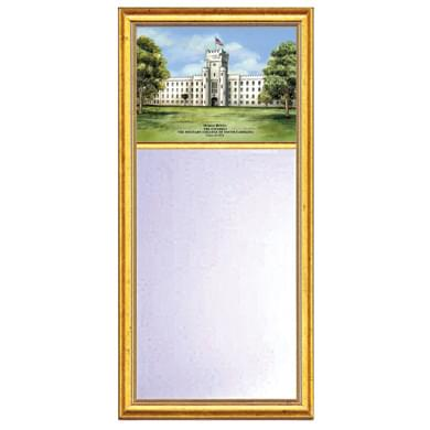 Citadel Eglomise Medium Mirror with Gold Frame