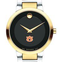 Auburn University Men's Movado Two-Tone Modern Classic Museum with Bracelet