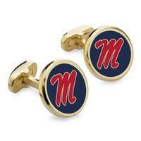 Ole Miss Enamel Cufflinks