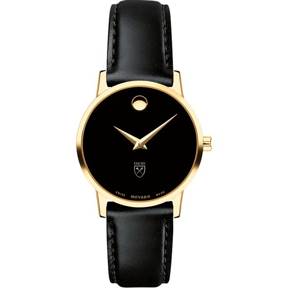 Emory University Women's Movado Gold Museum Classic Leather - Image 2