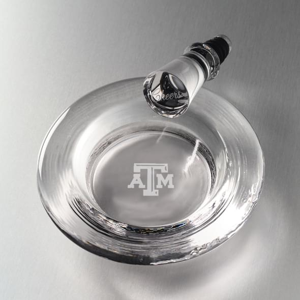 Texas A&M Glass Wine Coaster by Simon Pearce
