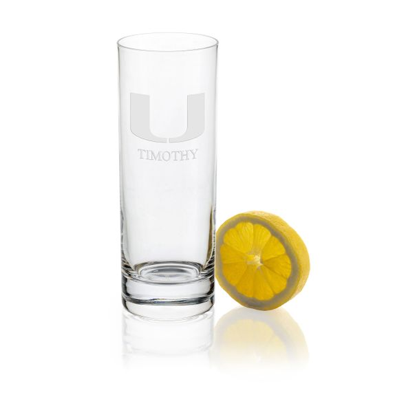 University of Miami Iced Beverage Glasses - Set of 2 - Image 1