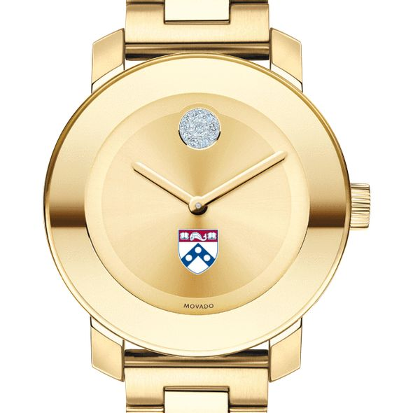 University of Pennsylvania Women's Movado Gold Bold