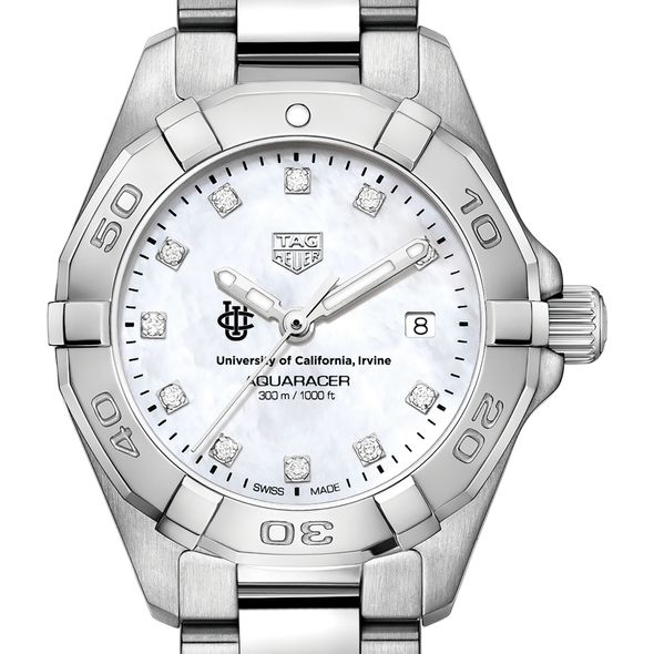 UC Irvine Women's TAG Heuer Steel Aquaracer with MOP Diamond Dial - Image 1
