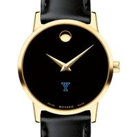 Yale University Women's Movado Gold Museum Classic Leather
