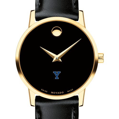 Yale Women's Movado Gold Museum Classic Leather