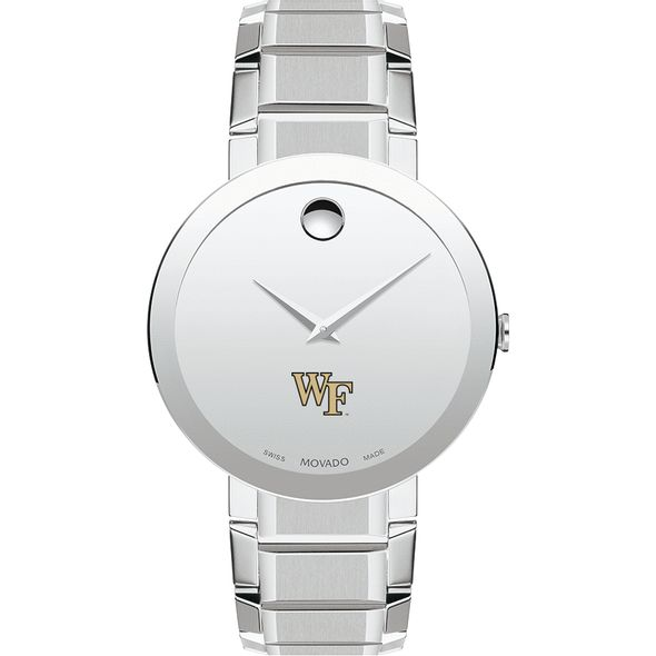 Wake Forest University Men's Movado Sapphire Museum with Bracelet - Image 2