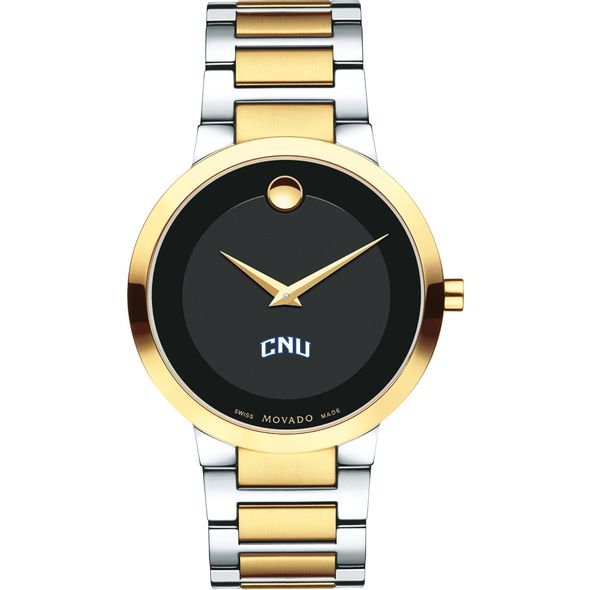 Christopher Newport University Men's Movado Two-Tone Modern Classic Museum with Bracelet - Image 2