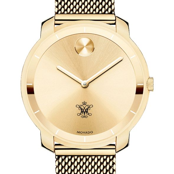 College of William & Mary Women's Movado Gold Bold 36