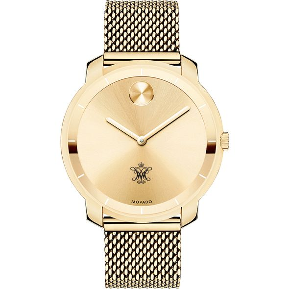 College of William & Mary Women's Movado Gold Bold 36 - Image 2