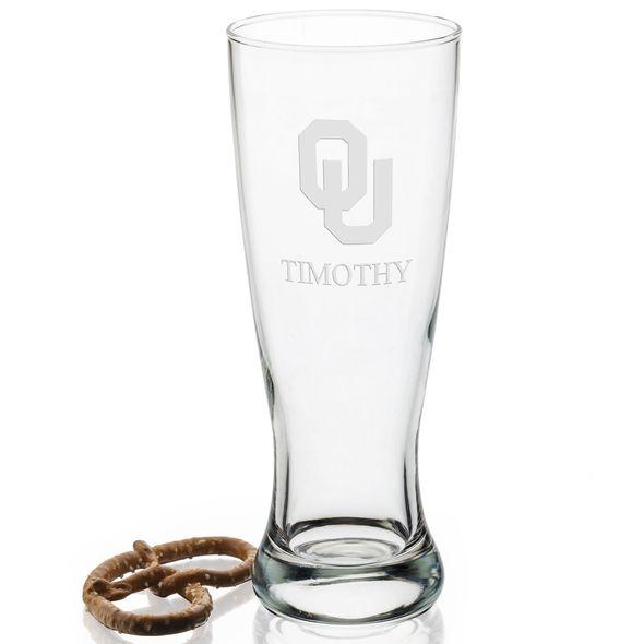 Oklahoma Tall 20oz Pilsner Glasses - Set of 2 - Image 2