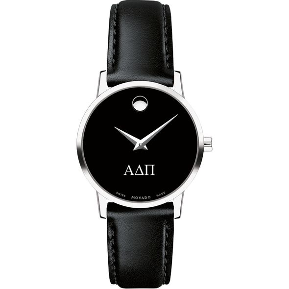 Alpha Delta Pi Women's Movado Museum with Leather Strap - Image 2