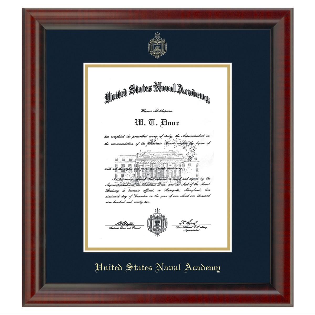 Official Us Naval Academy Diploma Frame The Fidelitas