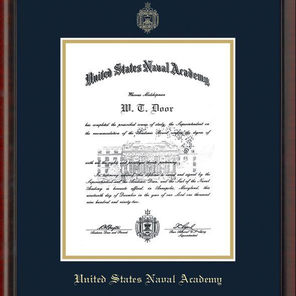 US Naval Academy Diploma Frame, the Fidelitas - Image 2
