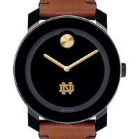 Notre Dame Men's Movado BOLD with Brown Leather Strap