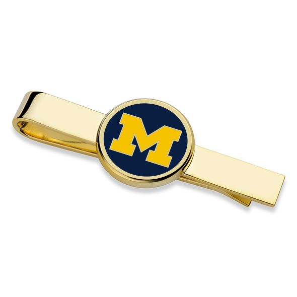 University of Michigan Enamel Tie Clip - Image 1