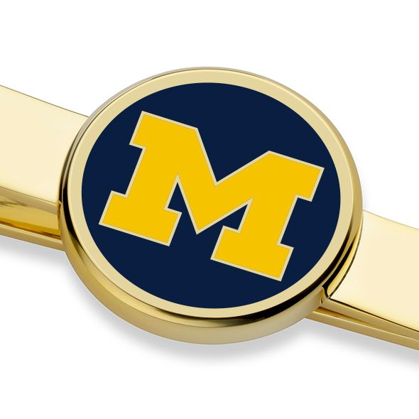 University of Michigan Enamel Tie Clip - Image 2