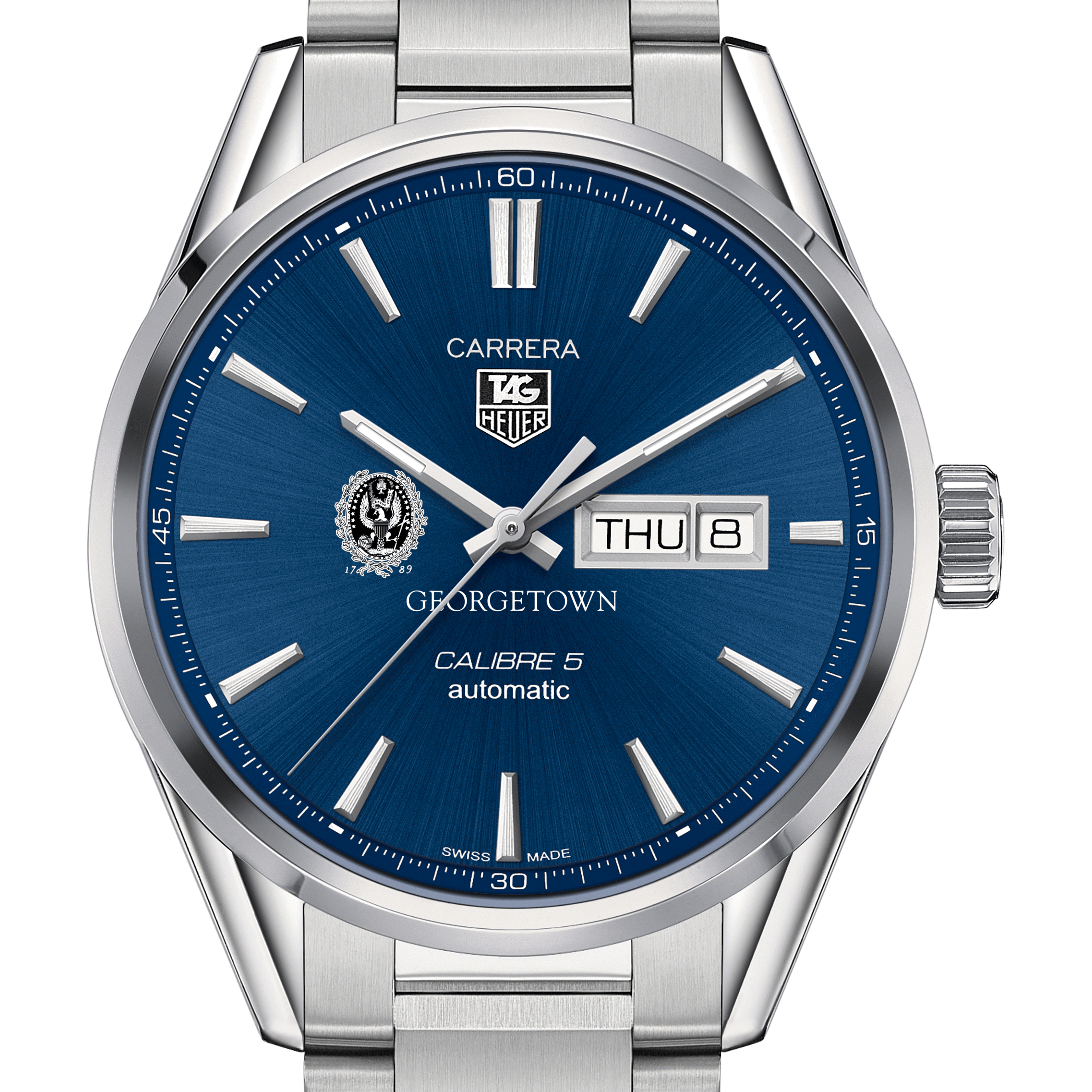 Georgetown University Men's TAG Heuer Carrera with Day-Date