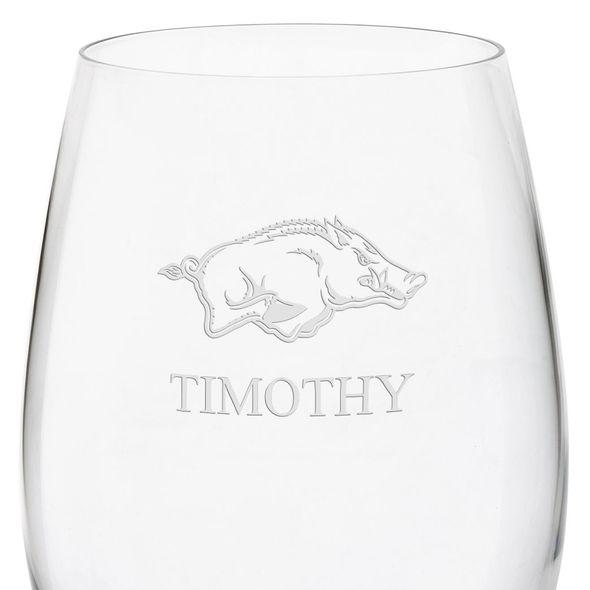 University of Arkansas Red Wine Glasses - Set of 4 - Image 3