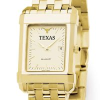 Texas Men's Gold Quad Watch with Bracelet
