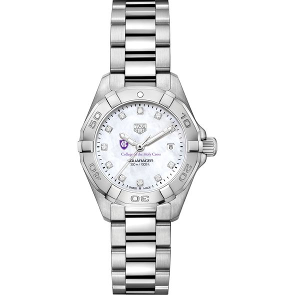 Holy Cross Women's TAG Heuer Steel Aquaracer with MOP Diamond Dial - Image 2
