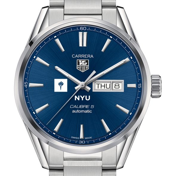 New York University Men's TAG Heuer Carrera with Day-Date
