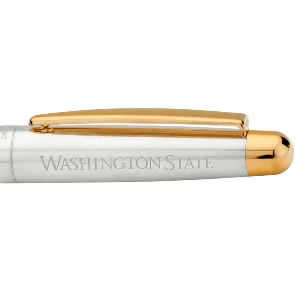 Washington State University Fountain Pen in Sterling Silver with Gold Trim - Image 2