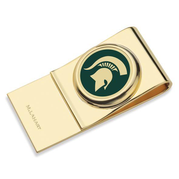 Michigan State University Enamel Money Clip