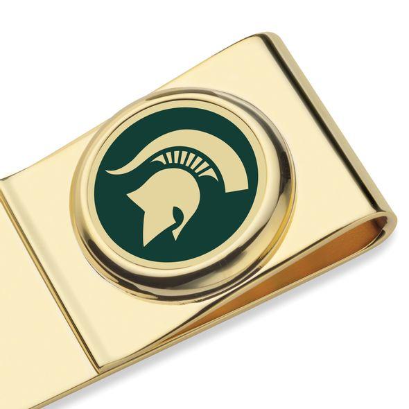 Michigan State University Enamel Money Clip - Image 2
