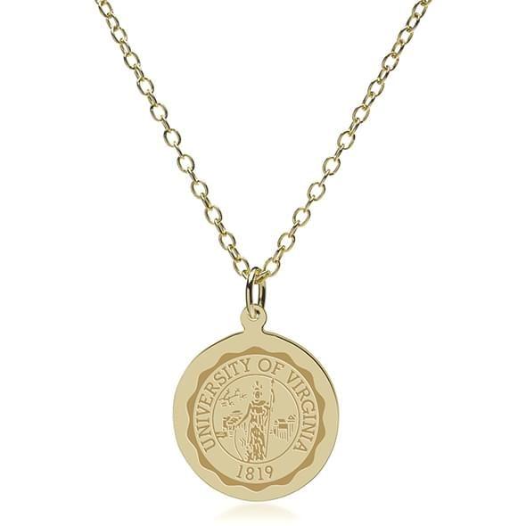 Virginia 18K Gold Pendant & Chain - Image 2