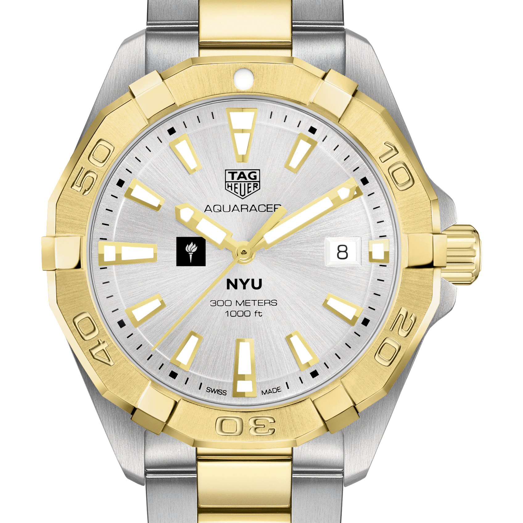 NYU Men's TAG Heuer Two-Tone Aquaracer