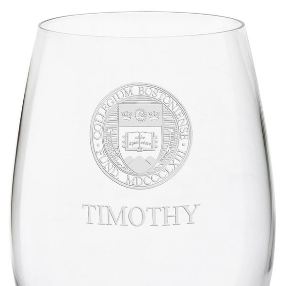Boston College Red Wine Glasses - Set of 4 - Image 3
