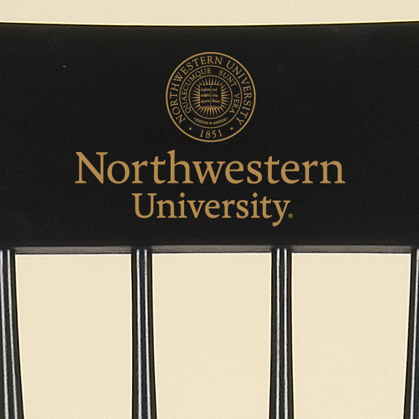 Northwestern University Captain's Chair by Hitchcock - Image 2